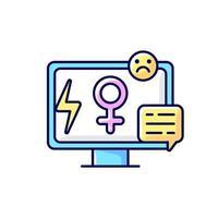 media seksisme RGB-kleur pictogram vector
