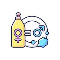 verdeling van huishoudelijke arbeid RGB-kleur pictogram vector