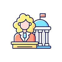 vrouwen in rgb-kleurenpictogram van de overheid vector