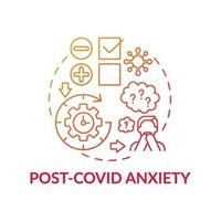 post-covid angst concept pictogram vector