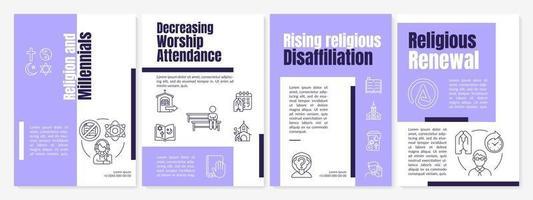 religie en millennials brochure sjabloon