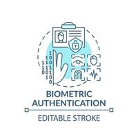 biometrische authenticatie concept pictogram