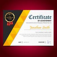 Geel elegant certificaat