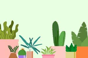 decoratieve planten achtergrond vector