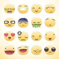 Cool Emoticons-pakket vector