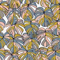 monstera blad naadloze patroon vector