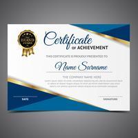 Blauw bekleed diploma