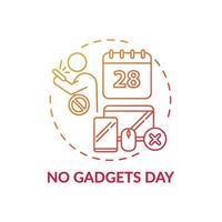 geen gadgets dag concept pictogram vector