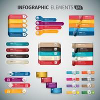 Set van infographic sjabloon vector
