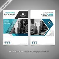 Blauwe eenvoudige brochure vector