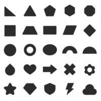 geometrische basisvormen ingesteld vector