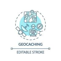 geocaching concept pictogram vector