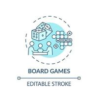 bordspellen concept pictogram
