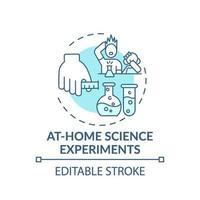 thuis wetenschap experimenten concept pictogram vector