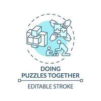 samen puzzels doen concept pictogram vector