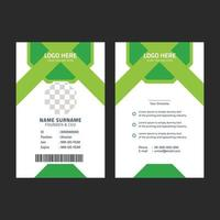 zakelijke groene identiteitskaartsjabloon