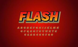 flash lettertype alfabet vector