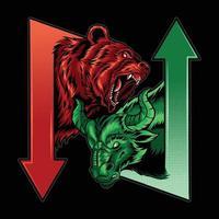bearish en bullish in de wetenschap van de aandelenmarkteconomie