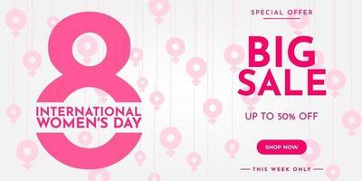internationale vrouwendag verkoopbanner
