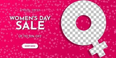 internationale vrouwendag verkoop banner