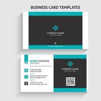 moderne visitekaartjesjabloon. briefpapierontwerp, plat ontwerp, afdruksjabloon, vectorillustratie. vector