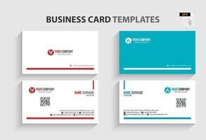 moderne visitekaartjesjabloon. briefpapierontwerp, plat ontwerp, afdruksjabloon, vectorillustratie.