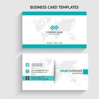 moderne visitekaartjesjabloon. briefpapierontwerp, plat ontwerp, afdruksjabloon, vectorillustratie vector