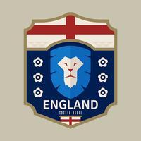 Engelse Wereldbeker Voetbal-badge vector