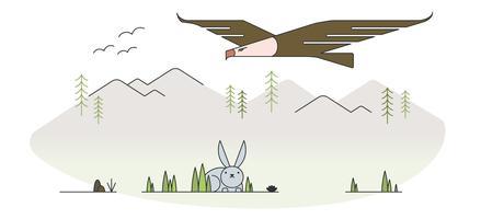 adelaar jacht vector