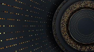 abstract luxepatroon op donkerblauw met gouden deeltjesachtergrond vector