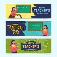 banners van lerarendag vector