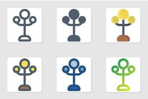 lamppictogram in geïsoleerd op witte achtergrond. voor uw websiteontwerp, logo, app, ui. vectorafbeeldingen illustratie en bewerkbare beroerte. eps 10. vector
