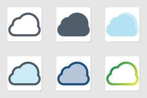 wolk pictogram in geïsoleerd op een witte achtergrond. voor uw websiteontwerp, logo, app, ui. vectorafbeeldingen illustratie en bewerkbare beroerte. eps 10. vector