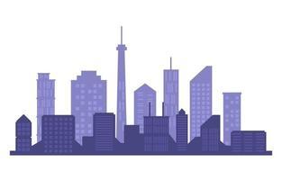 stad gebouw stadsgezicht skyline zakelijke witte achtergrond illustratie