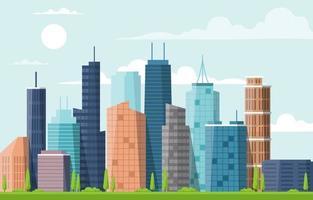 gebouw architectuur bouw stadsgezicht skyline zakelijke illustratie