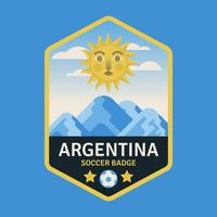 Argentinië World Cup Soccer Badges vector