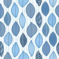 bos verlaat naadloze patroon in pastel, blauwe kleuren. behang met natuurlijke bloemenornamenten. hand getekend grafisch modern ontwerp. vector