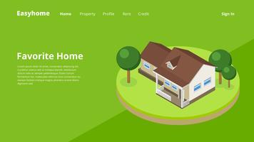 Bedrijf Web Header Property vector