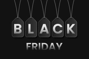 zwarte vrijdag verkoop banner concept vector