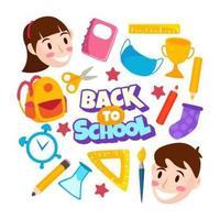 terug naar school icon set