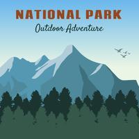 iconische nationale parkvectoren vector