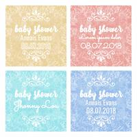 Vector kleurrijke baby douche achtergronden