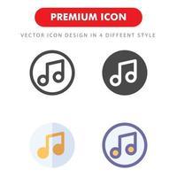 muziek icon pack geïsoleerd op een witte achtergrond. voor uw websiteontwerp, logo, app, ui. vectorafbeeldingen illustratie en bewerkbare beroerte. eps 10.