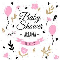 Baby Shower Achtergrond vector