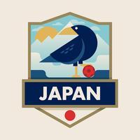 japan wereldkampioenschap voetbal badges vector