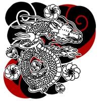 Japanse draak tatoeage vector