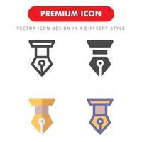 pen icon pack geïsoleerd op een witte achtergrond. voor uw websiteontwerp, logo, app, ui. vectorafbeeldingen illustratie en bewerkbare beroerte. eps 10. vector