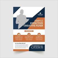 corporate flyer ontwerpsjabloon vector
