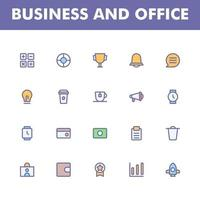 bedrijfspictogrampak dat op witte achtergrond wordt geïsoleerd. voor uw websiteontwerp, logo, app, ui. vectorafbeeldingen illustratie en bewerkbare beroerte. eps 10. vector