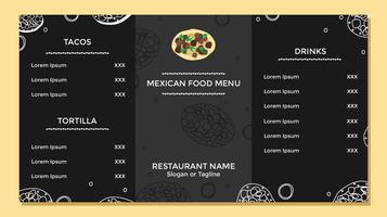 Mexicaans eten menusjabloon Vector